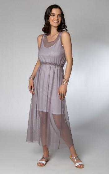 Φόρεμα εξωτερικό τούλι- V01111